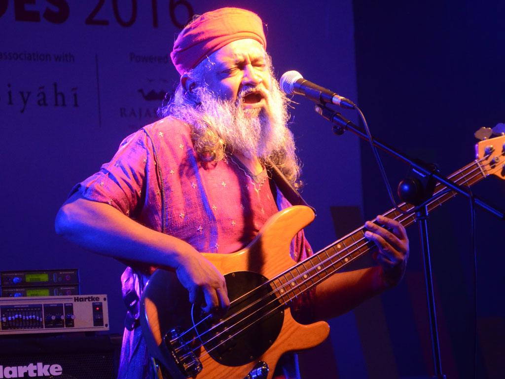 Rahul Ram, from the Indian band Indian Ocean, performing at the festival last year. Photo Courtesy: The Mountain Echoes Lit Fest