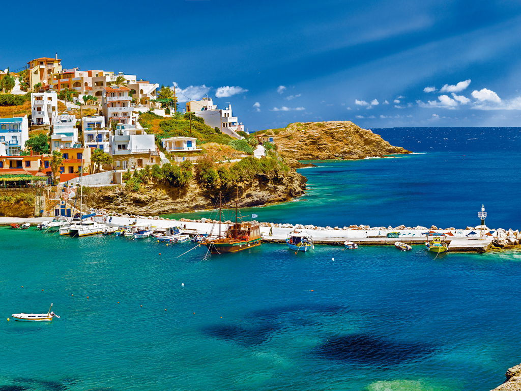 """One of her favourite destinations is Crete. """"It's not crowded with tourists and the seaside is so empty and blue."""" Photo by Chasdesign/iStock."""