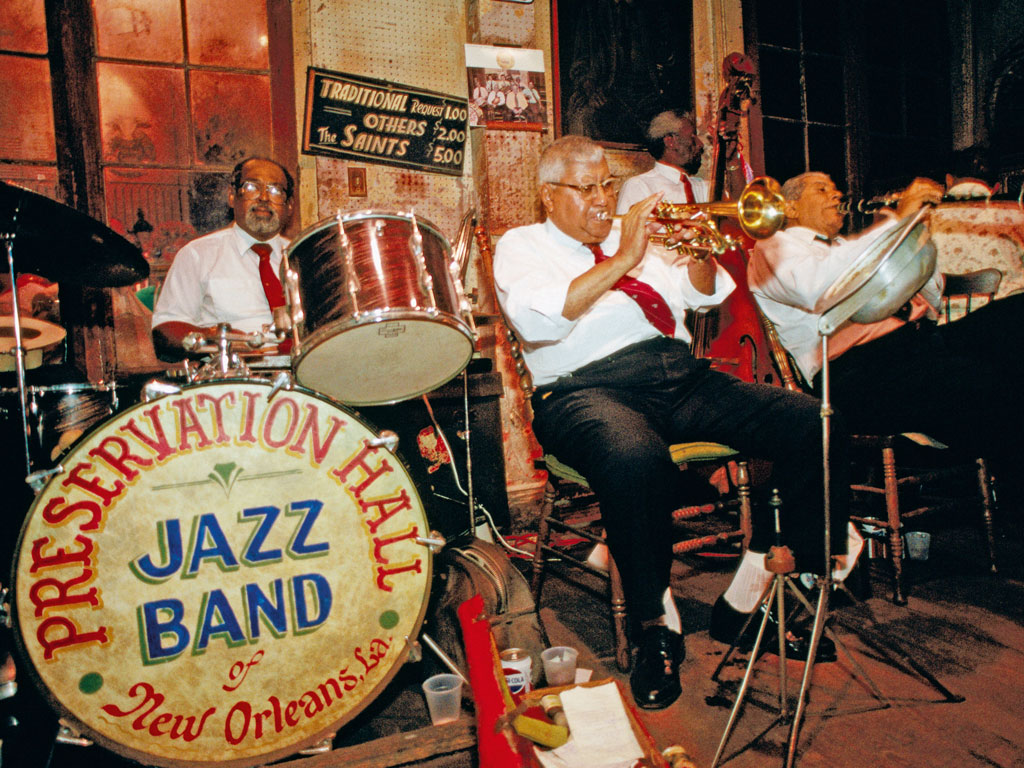 To experience the roots of New Orleans' jazz tradition, there's no better venue than Preservation Hall. Photo by: John Elk/Lonely Planet Images/getty images