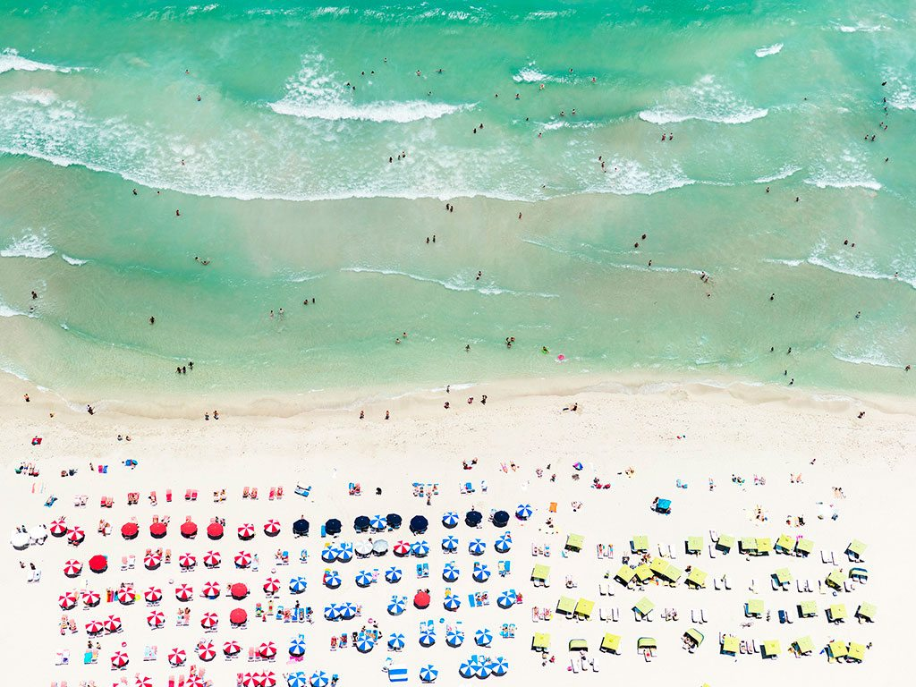 """Turquoise"" shot over Miami Beach, from the ""Up In The Air"" series. Photo: Antoine Rose"