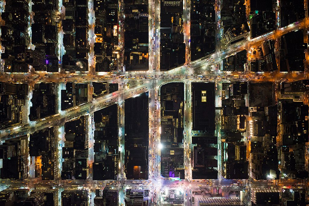 "Broadway, New York. From the ""Up In The Air"" series. Photo: Antoine Rose"