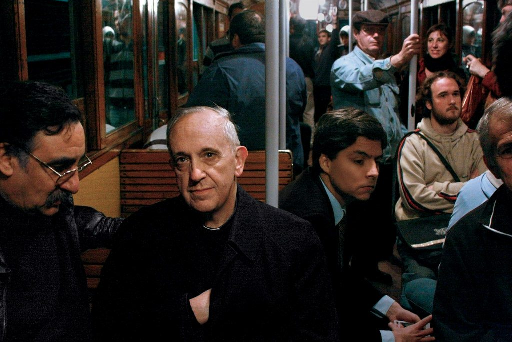 pope on the train