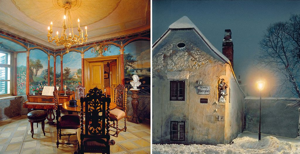 Beethoven spent his final days in this house (left) in the village of Gneixendorf. Photo: Imagno/Getty Images In 1802, Beethoven stayed at what is now known as Beethoven-Haus (right) in Heiligenstadt, Vienna. Here, he wrote his famous 'Heiligenstadt Testament', a letter to his brothers that described his struggles to come to terms with his deafness. It was found and published after his death. Photo: OesterreIchsches VolkshochschularchIV/Imagno/Getty Images