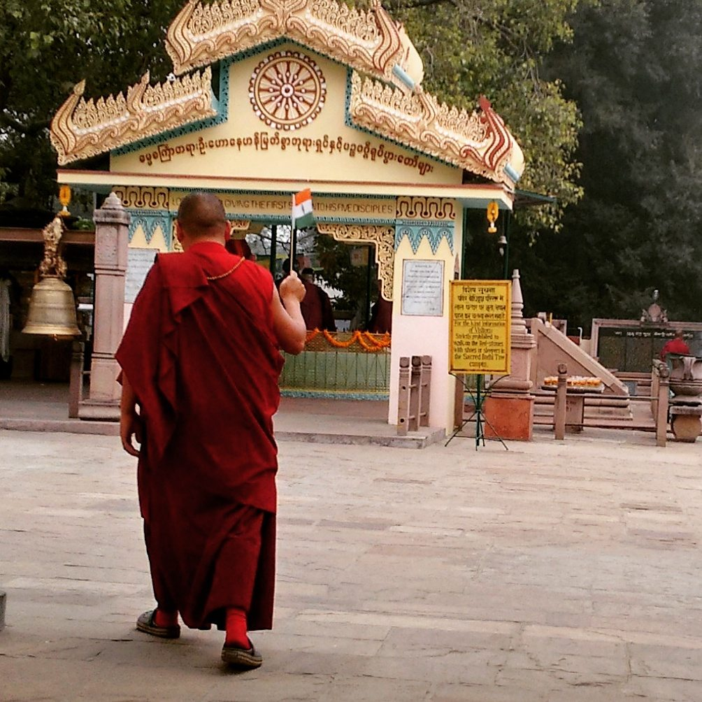 monk in Sarnath