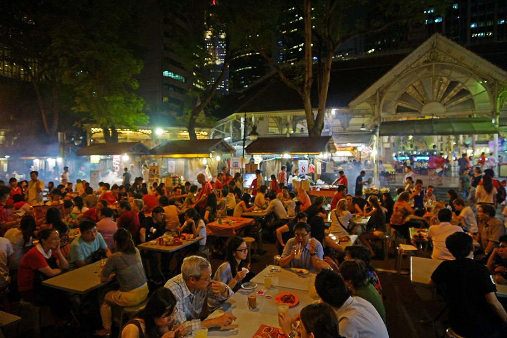lau pa sat food court