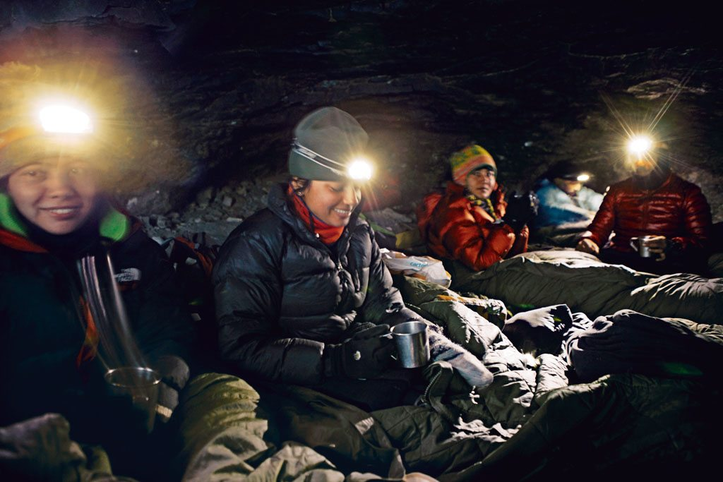 resting in the cave