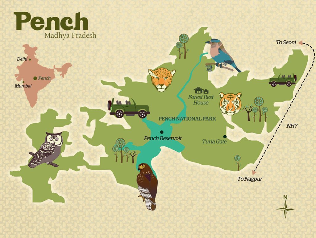 Pench map