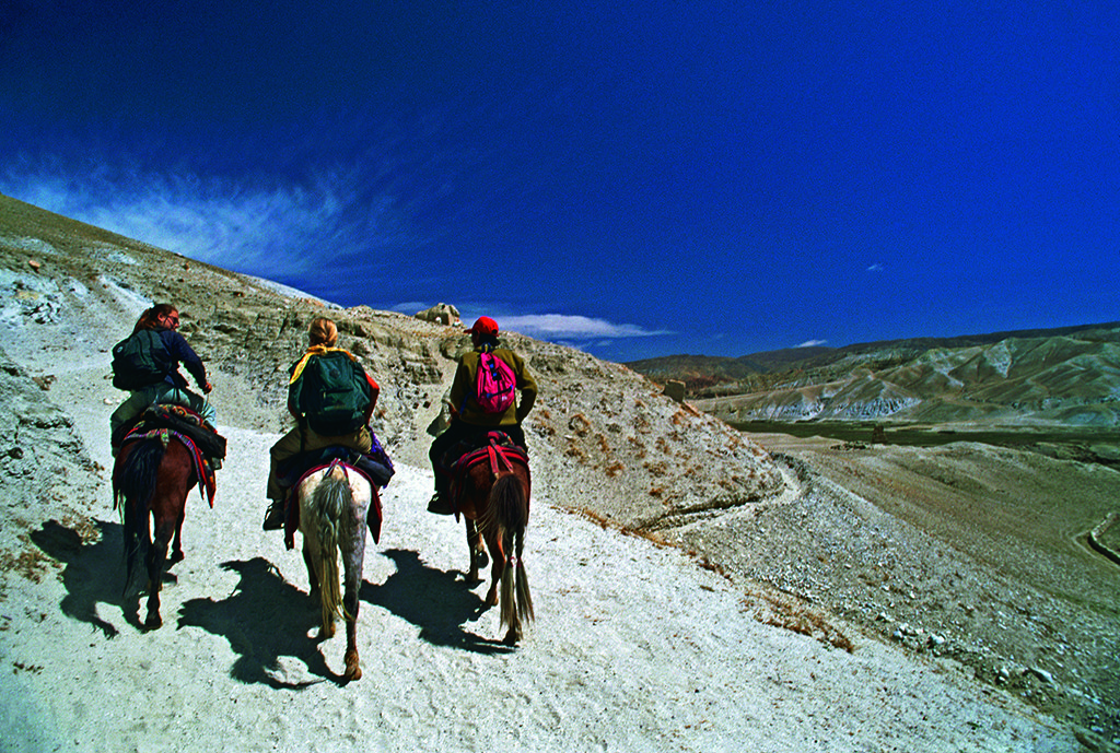 Most tourists undertake a 12- to 16-day trek from Jomsom, a village on the southern edge of Mustang, to the walled city of Lo Manthang. Photo: Macduff Everton/Corbis/Image Library