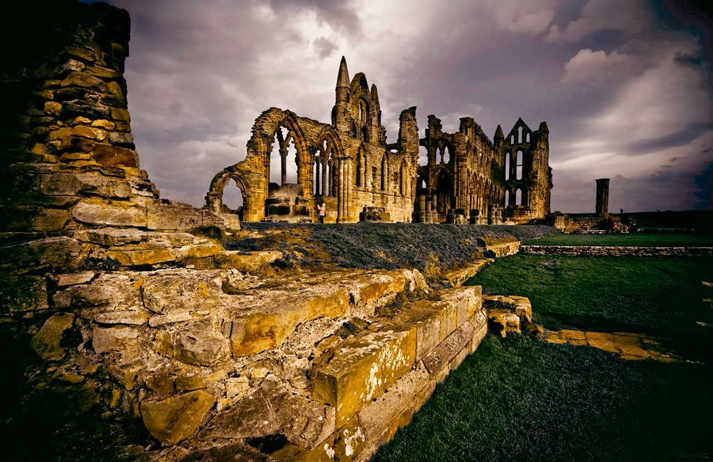 Nimbostratus clouds add mystery to this cathedral ruin in north Yorkshire. Photo: Phil Norton/Loop Images/Corbis/ImageLibrary