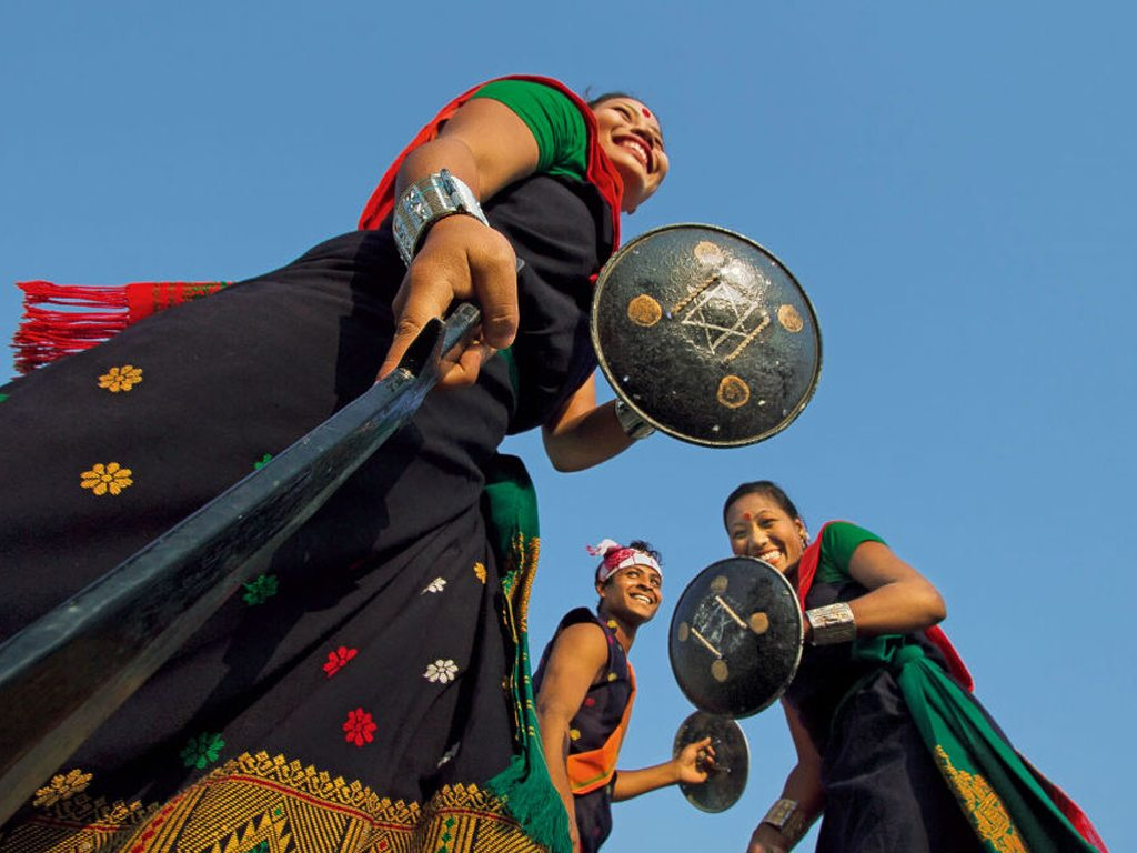 The women of north india show their talent through dance