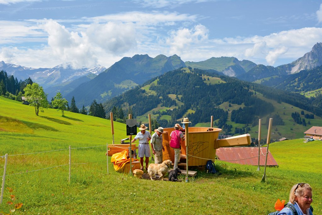 picnic in swiss Alps