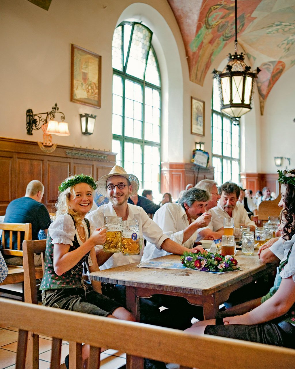 Yes, it's touristy, but Munich's Hofbräuhaus piles on the charm—and the litres of beer. Photo: Jens Schwarz/Laif/Redux