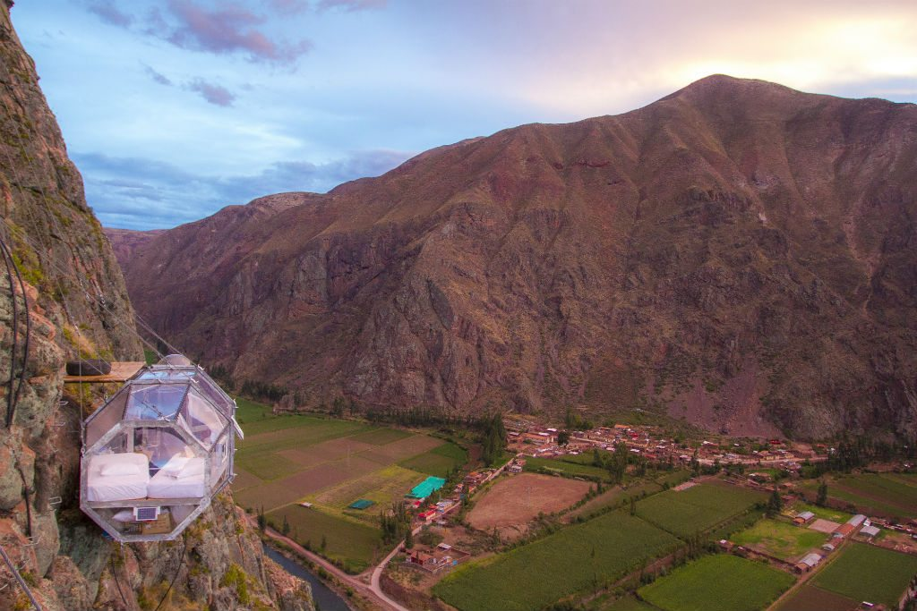 Get a bird's-eye view of the Sacred Valley of Cuzco from the comfort of your bed. Photo courtesy Natura Vive