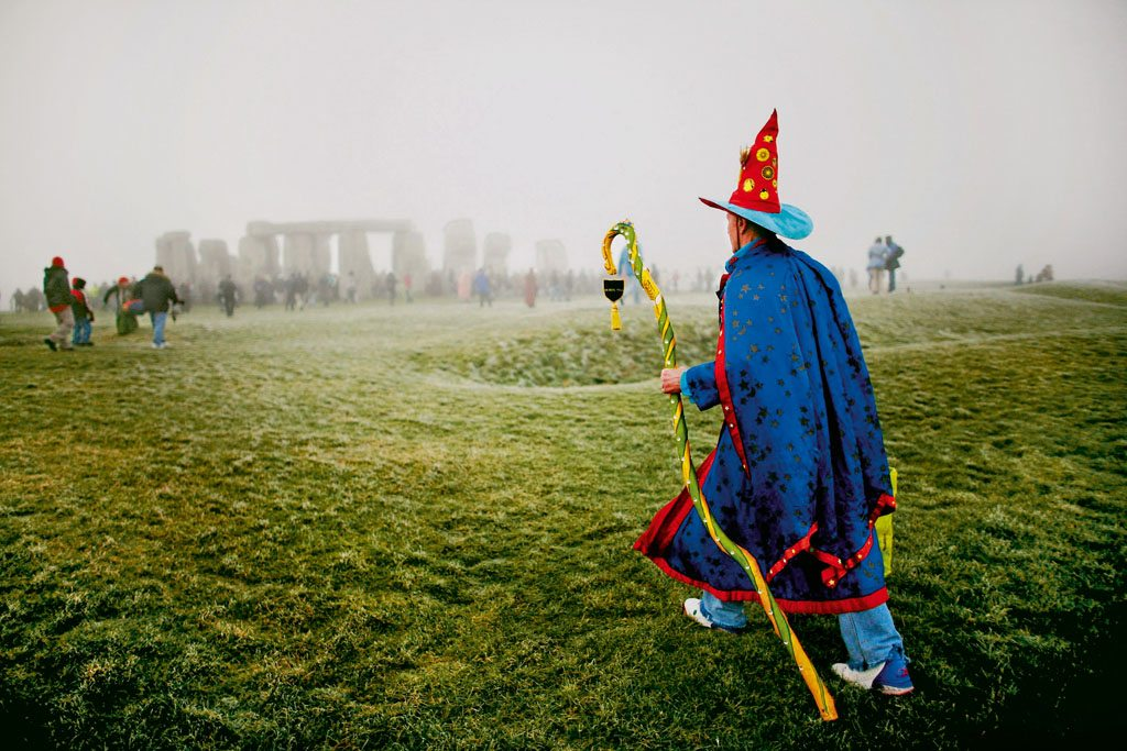Costume is key to attendees of the four-day Summer Solstice at Stonehenge festival. It's a place where all eccentricities are celebrated and all are welcome. Photo: Daniel Berehulak/Staff/Gety Images