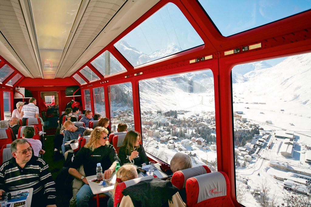 winter special 2 train journeys for stunning views of the swiss alps nat geo traveller india. Black Bedroom Furniture Sets. Home Design Ideas