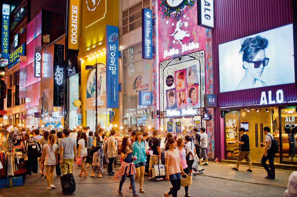 Cosmetic Products Myeong Dong South Korea