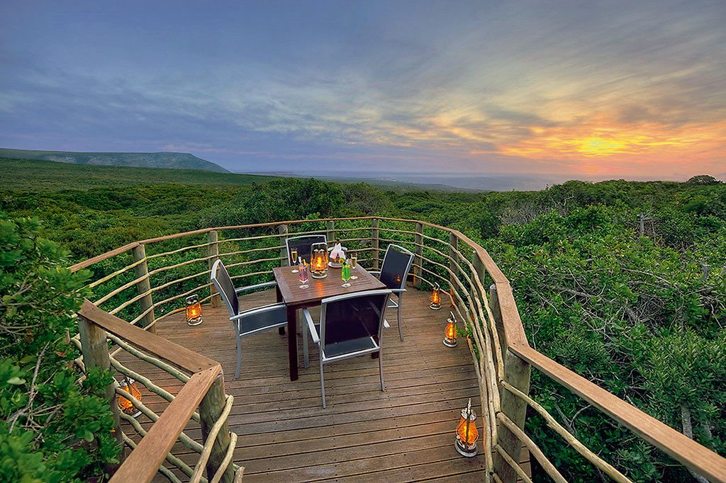 The private deck at the Grootbos Private Nature Reserve affords panoramic views. Photo courtesy Grootbos Private Nature Reserve