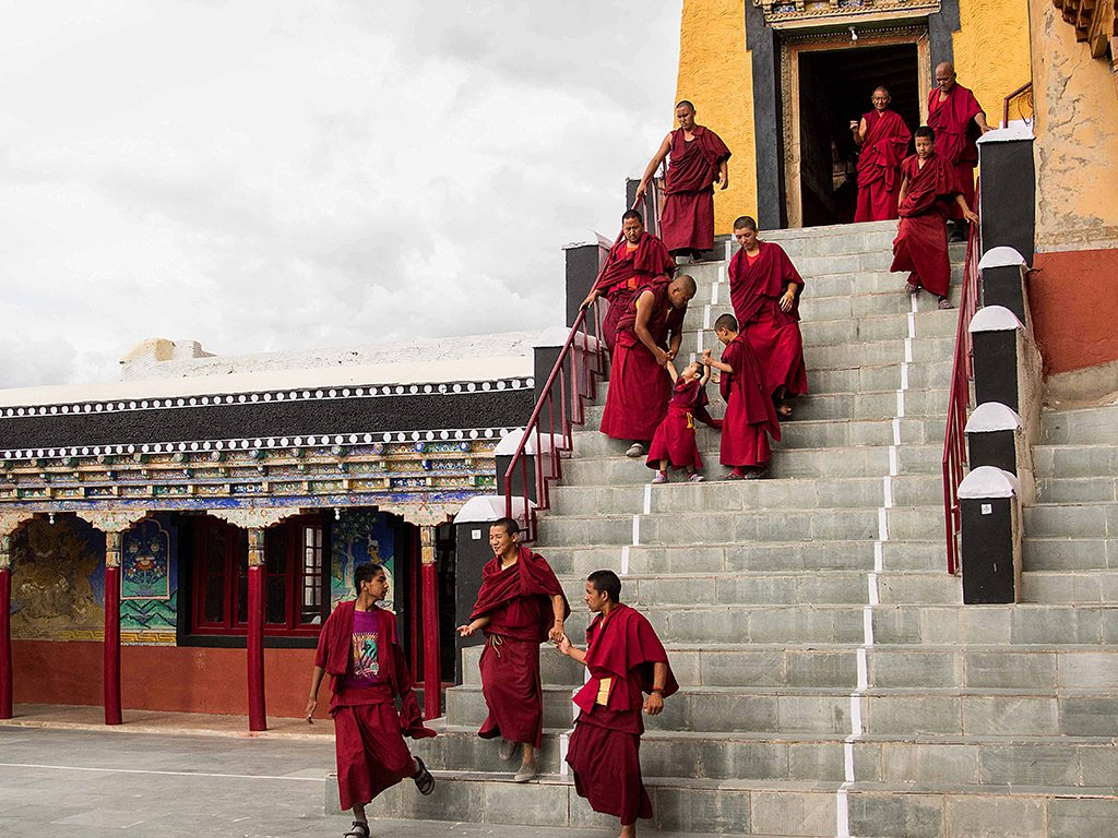 monks at thiksey monastery, photo by Russell Dmello