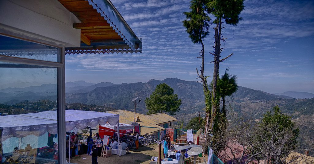 Listen to renowned writers discuss their work and other literary matters at the Kumaon Literary Fest's picturesque venues in Uttarakhand. Photo courtesy Kumaon Literary Fest.