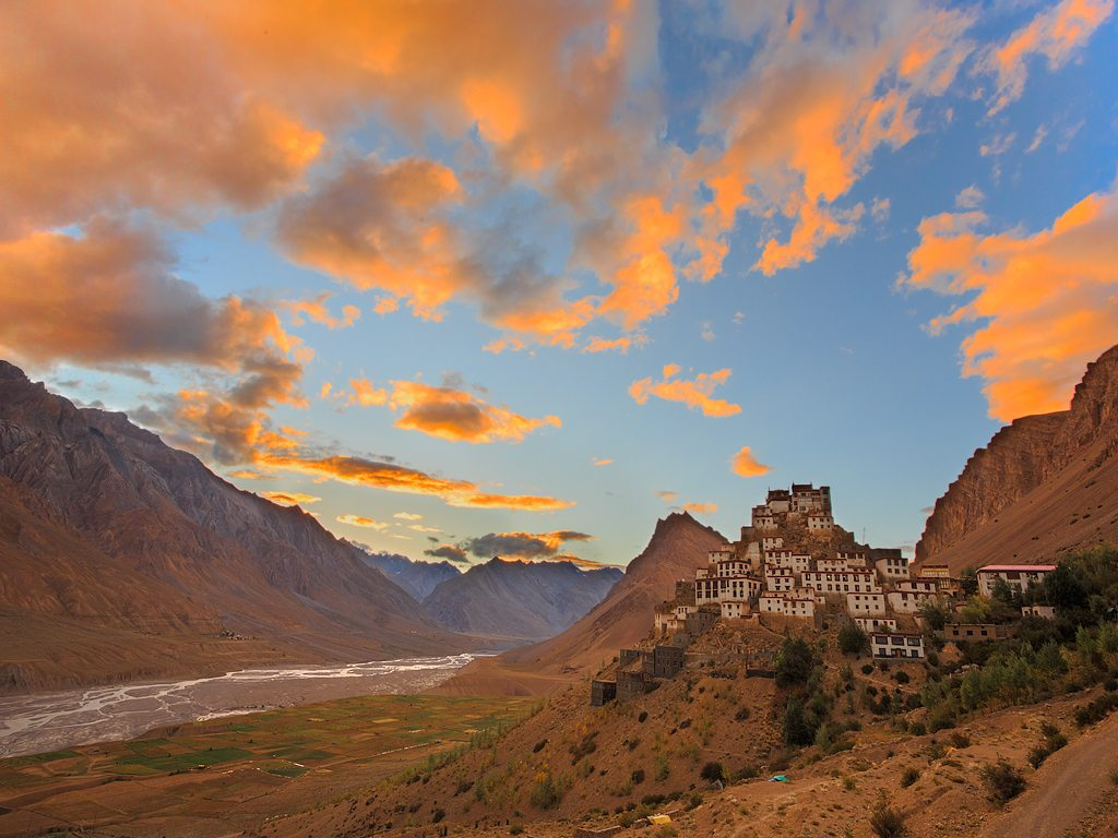 Built in the early 11th-century, the Ki Monastery in Himachal Pradesh's Spiti Valley is considered to be one of the oldest in the region.