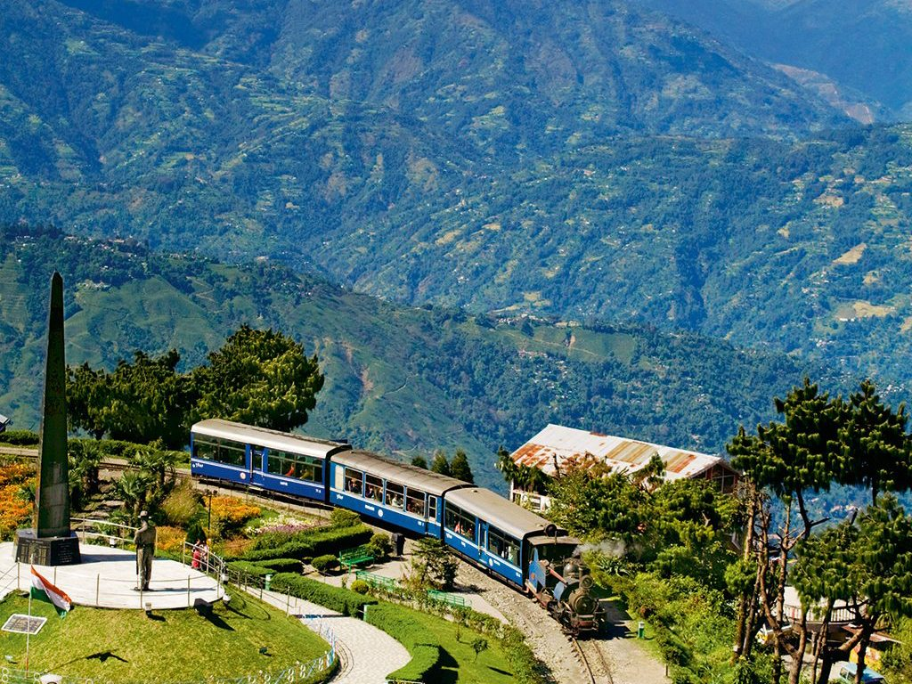The Darjeeling Himalayan Railway, West Bengal. Photo: Jane Sweeney/AGE Fotostock/Dinodia Photo Library