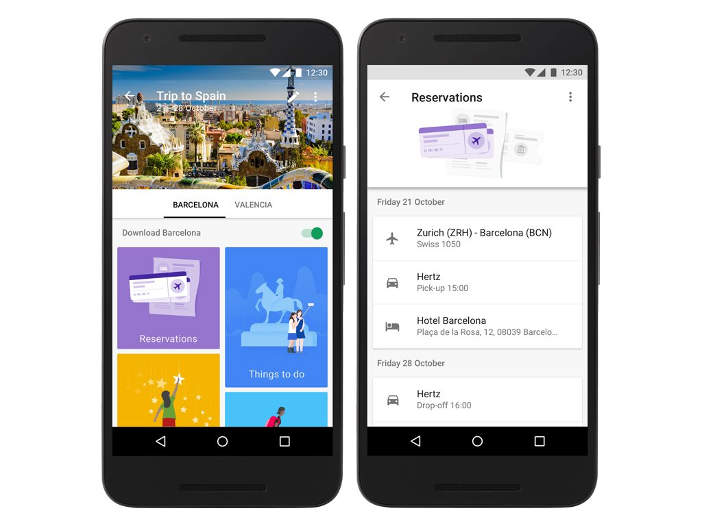 Google Trips attempts to cover all your travel needs, from research to planning itineraries. Photo courtesy Google