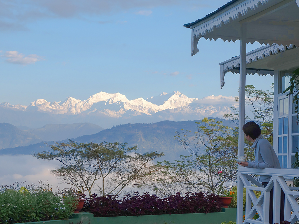Sip on a cup of chai at a Darjeeling tea estate, while looking out at Mount Kanchenjunga. Photo courtesy Glenburn Tea Estate