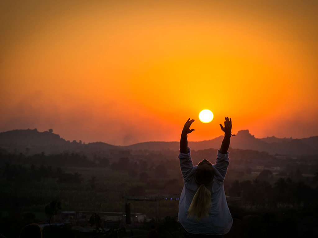 There's no better way to start the day than a few surya namaskars, as this traveller in Hampi discovers.