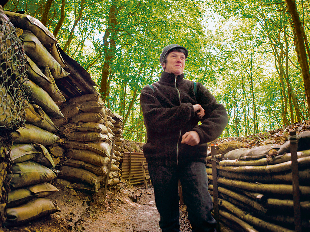 At Saint-Mihiel, guide Florence Lamousse gives tours of reconstructed WWI trenches, where the main danger now is wild boar. Photo: Kris Davidson