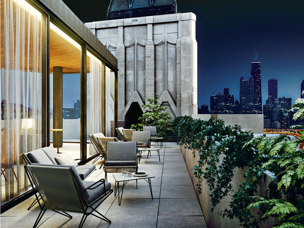 The Robey's rooftop Chicago