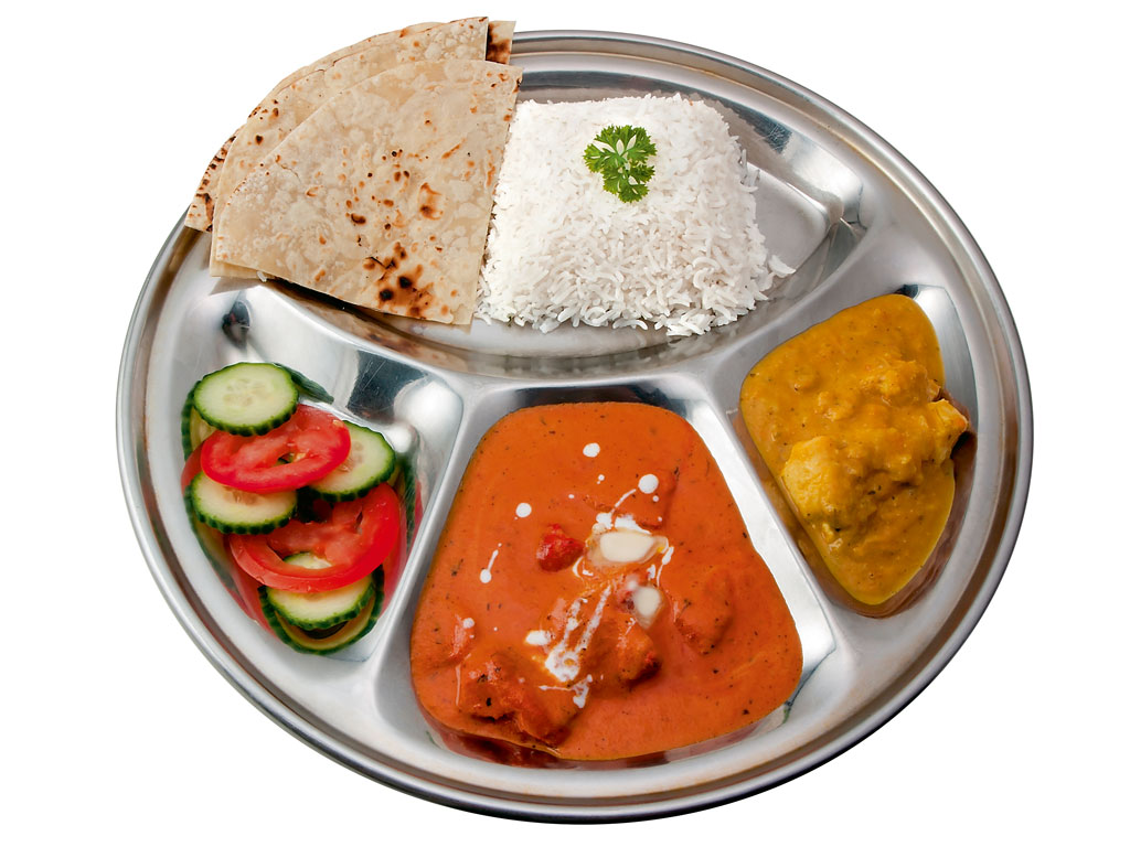 plate of butter chicken
