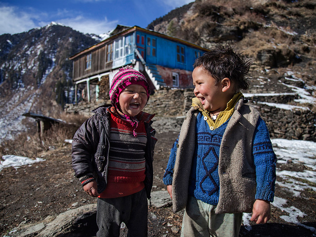 People in Malana live very happy lives. These young kids' mirth is bursting from the picture.