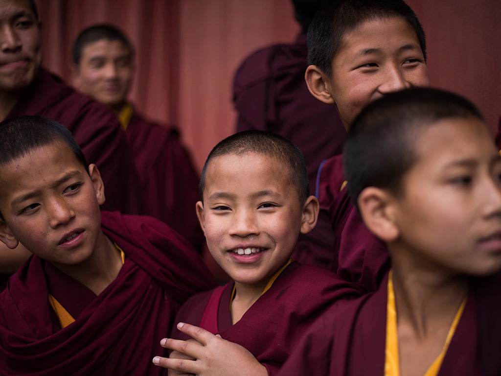 Seeing these happy faces is a great way to start the day! Today's Daily Shot is clicked at Pemayangtse Monastery, Sikkim.