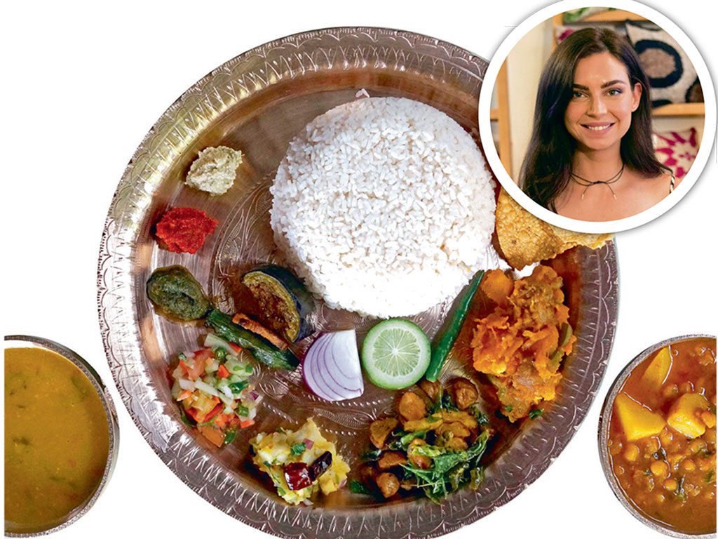 Assamese food thali