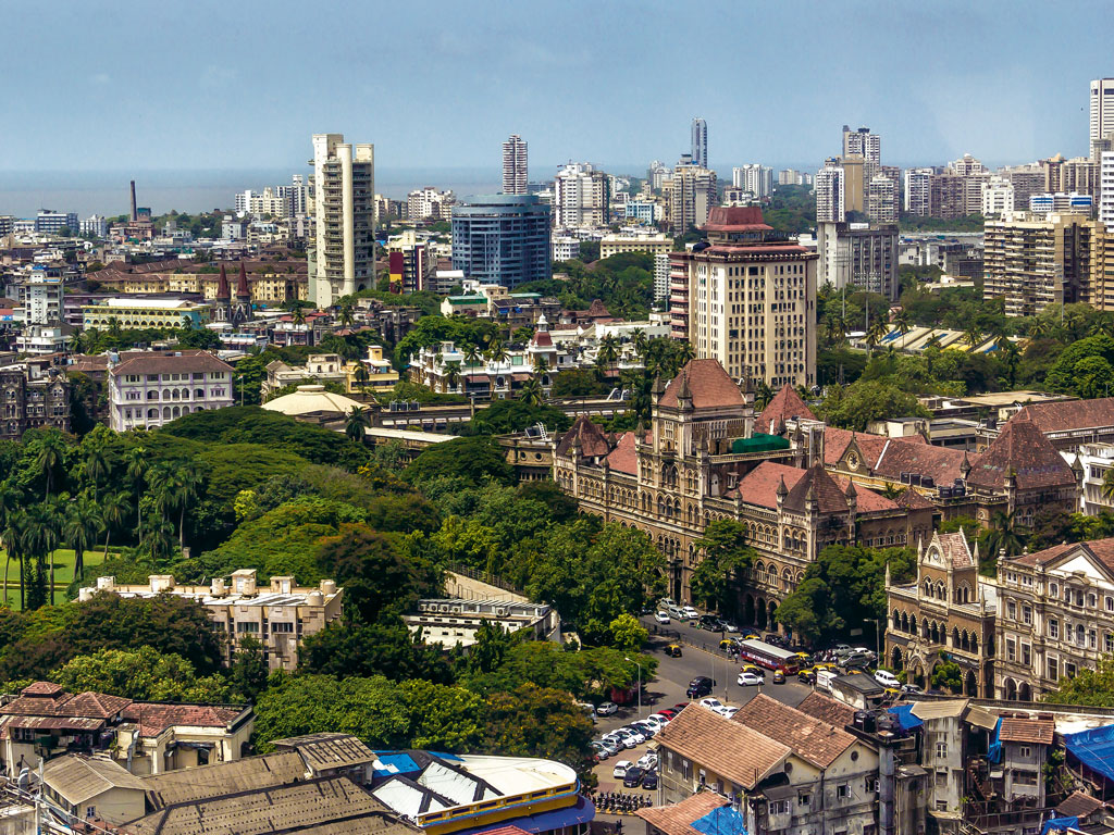 Aerial view of Bombay