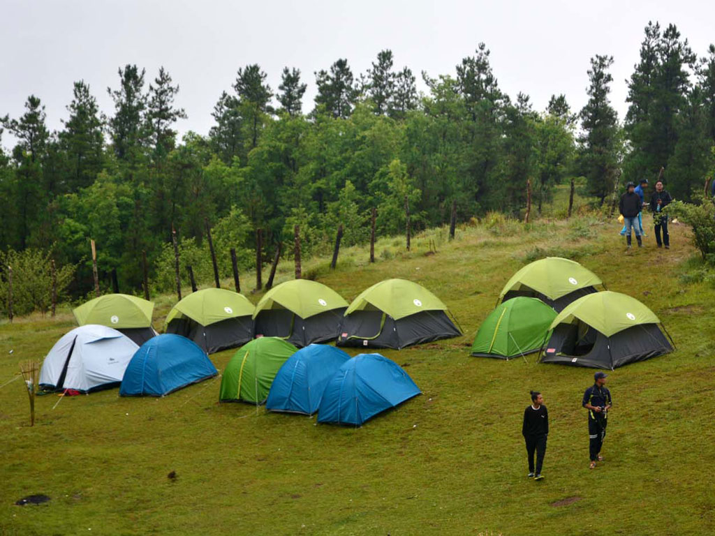 outdoor camping in Shirui Lily Festival