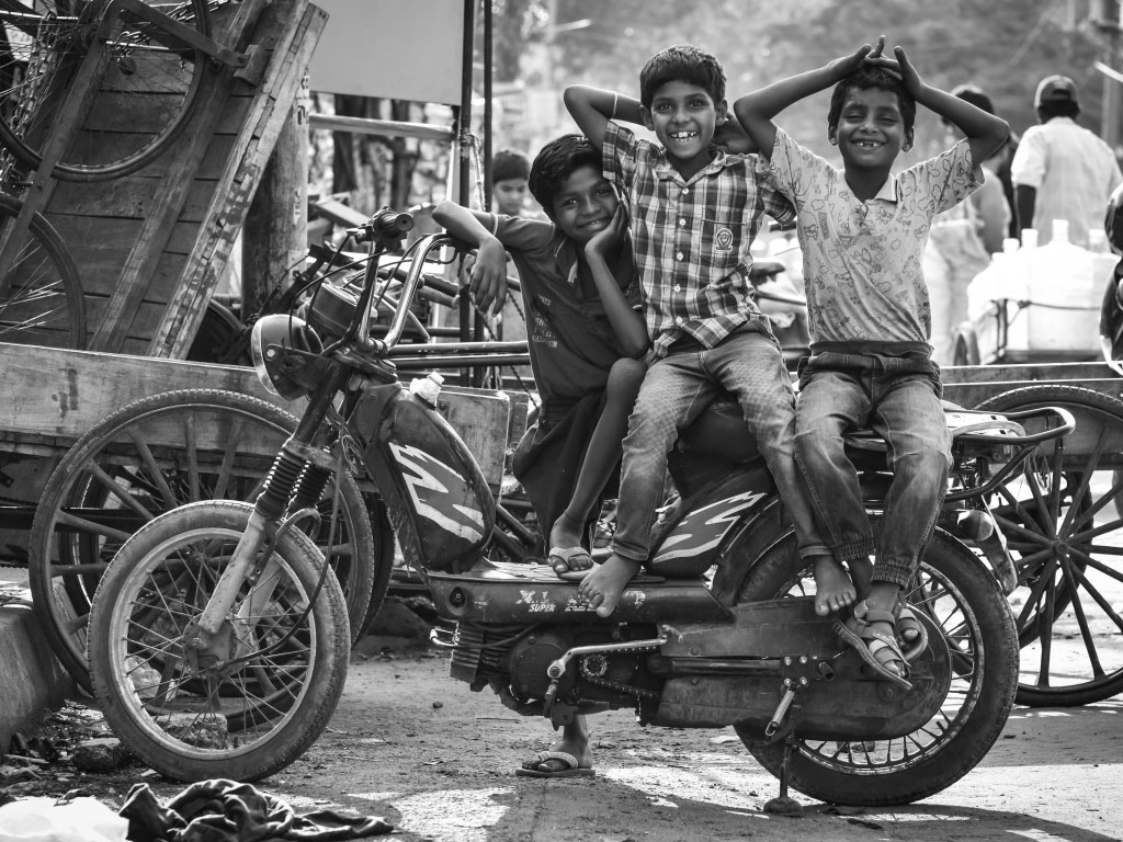 The gang is out on an evening, and their happiness is shining through. The picture is clicked in Hudson lane, Delhi.