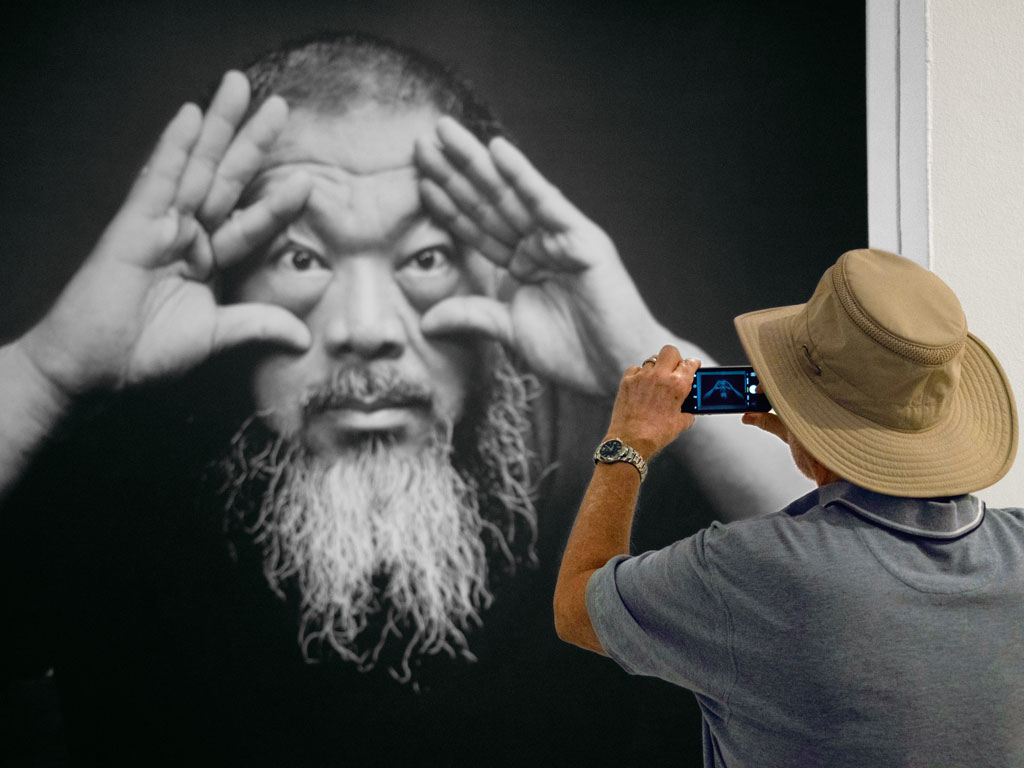 "Ai Weiwei's solo project ""Trace"" is showing at the Hirshhorn Museum and Sculpture Garden till January 1, 2018. The Chinese artist has used Lego parts to draw portraits of the world's political dissenters."