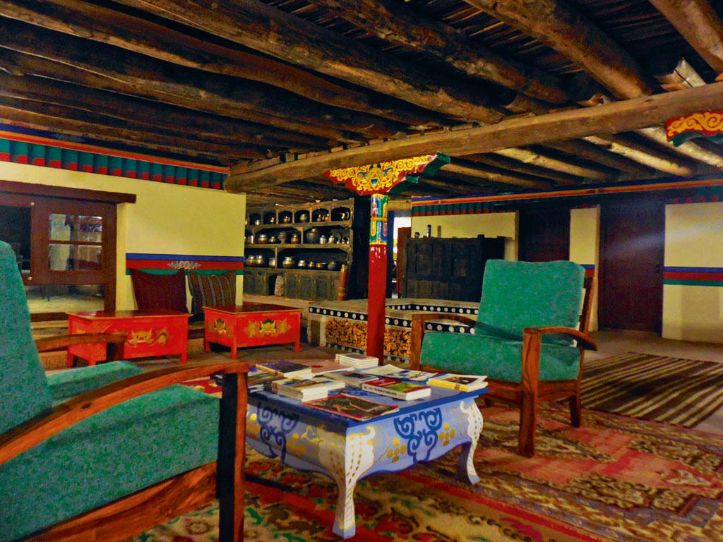 The communal dining space at Shey Bhumi. Photo Courtesy: Kaya Dorje