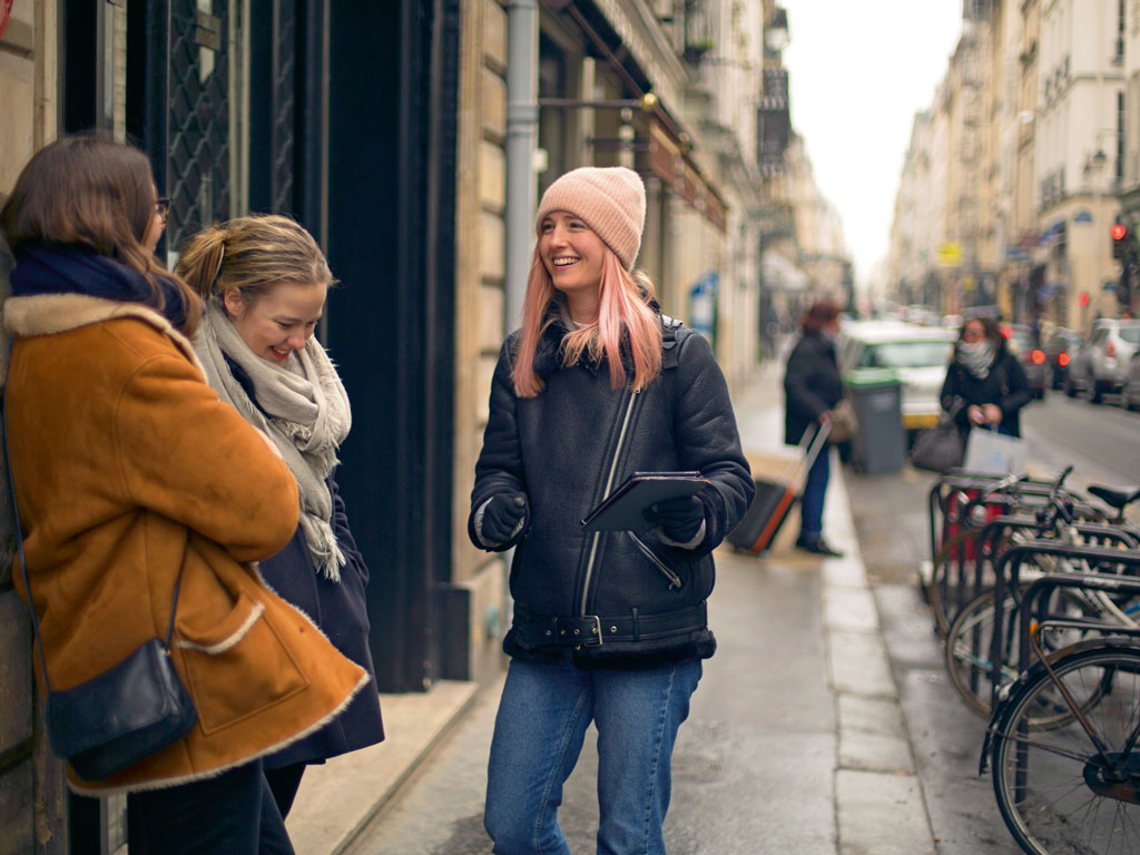 After kicking off her walk at the Pantheon, Evans usually leads her visitors to Saint-Étienne-du-Mont, the church that is a shrine to Paris's female patron saint St. Genevieve. Photo by: Heidi Evans (Women), Education Images/Contributor/Universal Images Group/Getty Images