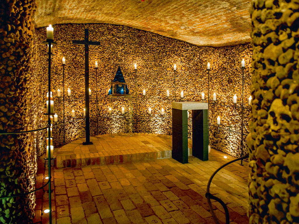 The ossuary at Brno holds the bones of over 50,000 people. Photo courtesy: Michal Růžička, TIC Brno