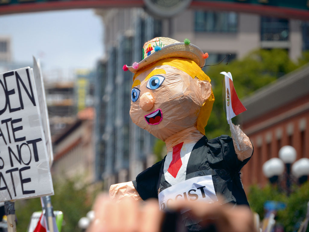 From rallies in Chicago to California, Donald Trump effigies always look like an improvement on his actual self. Photo by: stevechristensen/istock unreleased/Getty Images