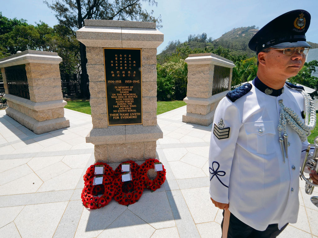 Stanley Military Cemetery. Photo by: Mike Clarke/staff/Getty Images