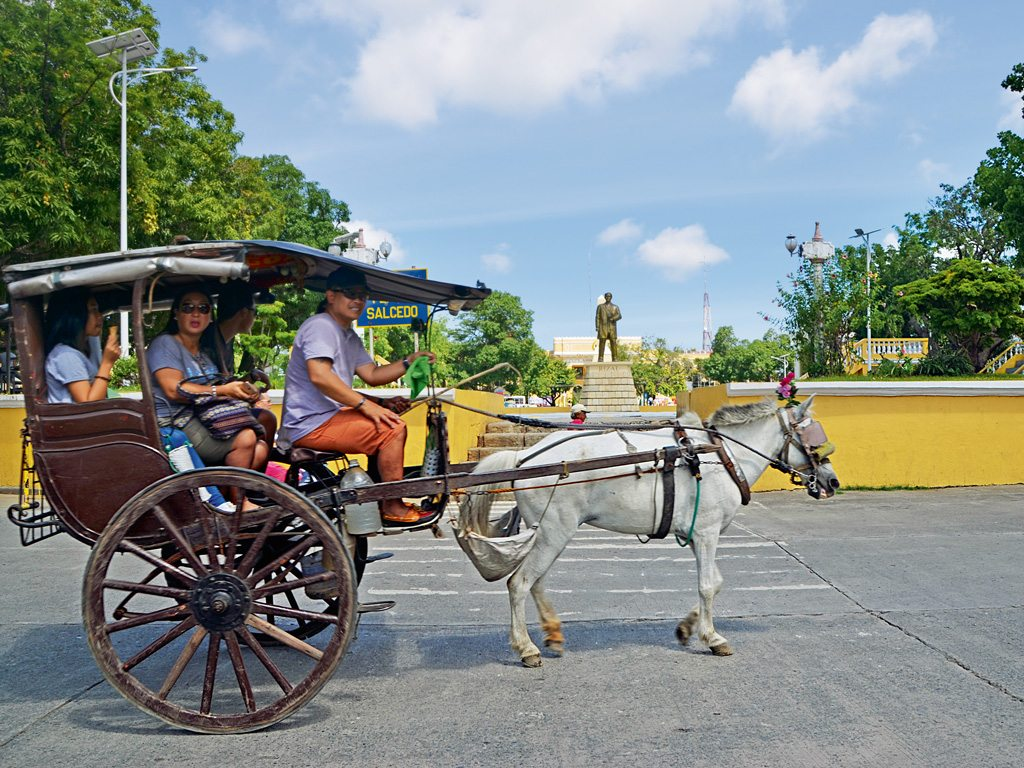 A kalesa ride around the main square is the best way to discover the Historic City of Vigan, a UNESCO World Heritage Site. Photo by: Rumela Basu